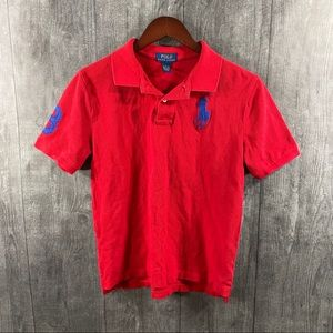 Polo Ralph Lauren Boys Size Large Red Shirt